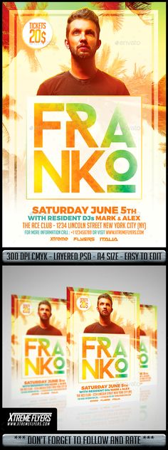 Miami DJ Flyer  #summer  #techno • Available here → http://graphicriver.net/item/miami-dj-flyer/15750672?s_rank=211&ref=pxcr