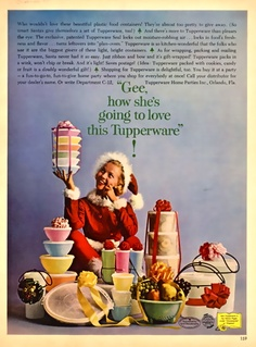 Vintage - Christmas Tupperware Ad, 1962