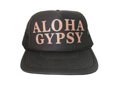 ALOHA GYPSY black hat with rose gold glitter