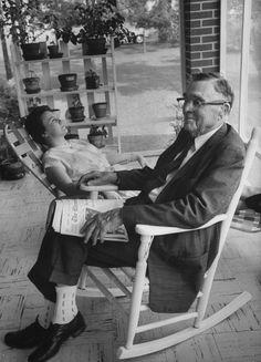Harper Lee con suo padre, 1961