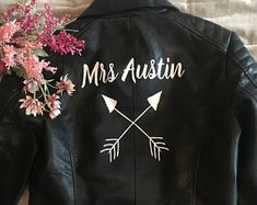 Arrows Customised Wedding Faux Leather Jacket