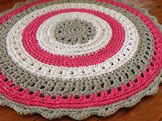 Handmade Crochet Tshirt Yarn Pink White Grey by BunyetskaHandmade, $105.00