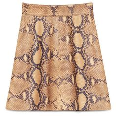 Gucci Python Print Leather Skirt (£1,140) ❤ liked on Polyvore featuring skirts, ready to wear, women, gucci, knee length leather skirt, patterned skirt, high waisted skirts and high waisted leather skirt