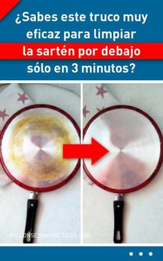 ¿Sabes este truco muy eficaz para limpiar la sartén por debajo sólo en 3 minutos? Home Hacks, Cleaning Hacks, Stains, Diy, Household Tips, Ideas, Technology, Interior, Wave