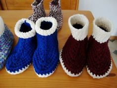 adult crochet slippers (s) This site has tips on how to improve the slipper pattern found here (http://crochetncrafts.com/adult-crochet-slippers/)