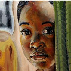 Girl behind the Green Curtain by Gary Romain Williams