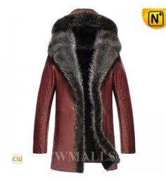 Mens Shearling Coat CW836065 www.cwmalls.com