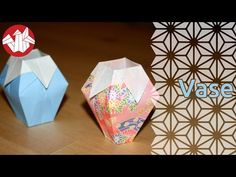 Origami - Vase (HD) [Senbazuru] - YouTube
