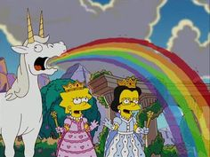 Simpsons spreading the rainbow