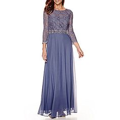 jcp   Jackie Jon Off-The-Shoulder Lace-Bodice Gown