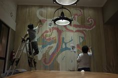 Two Cents Coffee Mural by Untitled Wall Project, via Behance