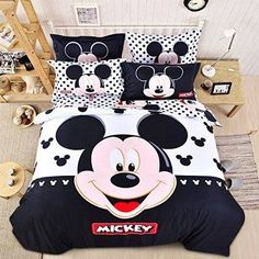 USpiece Cartoon Children Disney Mickey Mouse G Printed Bed Quilt Cover Bedding Set Duvet Cover King Disney Mickey Mouse, Cama Mickey Mouse, Mickey Mouse Bett, Cozinha Do Mickey Mouse, Mickey Mouse House, Mickey Mouse Kitchen, Mickey Mouse Bathroom, Casa Disney, Disney Furniture