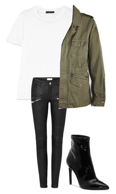 """""""Army jacket outfit"""" by shirlygold on Polyvore featuring The Row, Velvet by Graham & Spencer and Jessica Simpson"""
