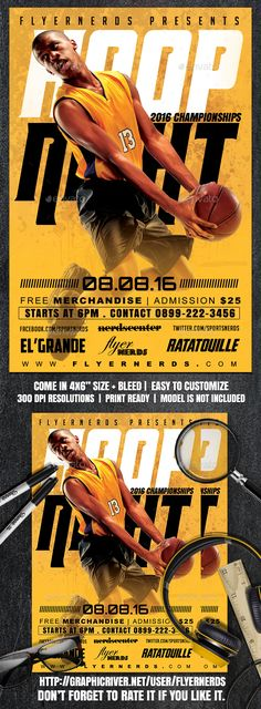 BasketBall Game Flyer Template Basketball games, Psd templates - free sports flyer templates