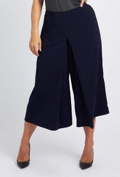4bd59de01f1d Buy our exclusive stretch twill culottes in black from the Anna Scholz  designer plus size collection