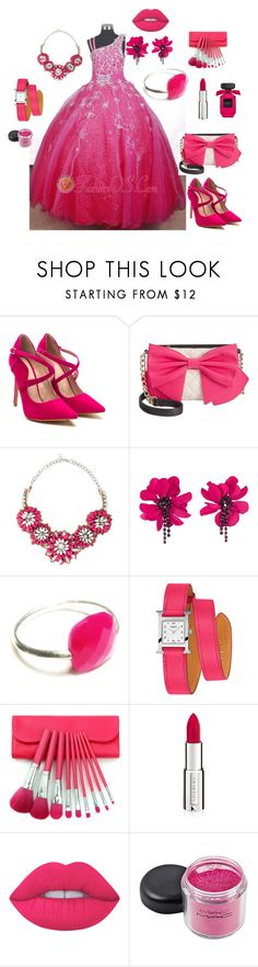 """Bez naslova #67"" by alma-ja ❤ liked on Polyvore featuring Betsey Johnson, Valentino, Lanvin, Les Rêveries d'Eve, Hermès, Givenchy and Lime Crime"