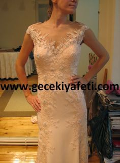 Pudra Rengi Gece Elbisesi Özel Tasarım ~ Gece Elbiseleri | Abiye Elbise | Gelinlik Modelleri - Gece Kıyafetleri