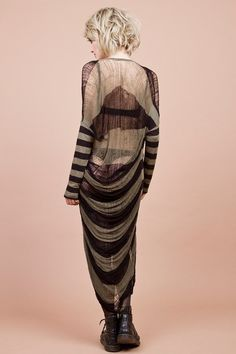 Ripped Dress Military Stripes by commeonveut on Etsy, €275.00