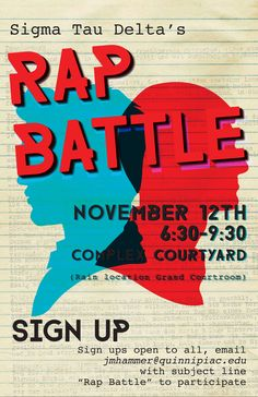 Rap Battle poster created by me in Fall 2015.
