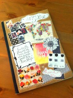 diy collage journal cover