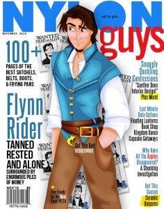 Disney Prince Magazine Covers: Flynn Rider, Nylon Guys