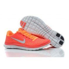 cd61bd0ab98c3c Nike Free 3.0 V4 Männer Schuhe Orange Silber Free Running Shoes