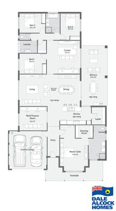 Choose your dream home design now with Dale Alcock. New House Plans, Dream House Plans, House Floor Plans, My Dream Home, House Plans Australia, Home Design Floor Plans, House Blueprints, Bedroom House Plans, Outdoor Kitchen Design