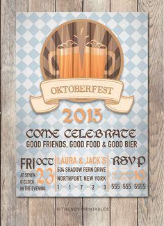 Oktoberfest Invitation, Oktoberfest Party Invitation, Halloween Party…