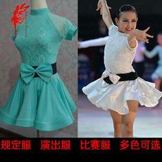 >> Click to Buy << Girls latin dance costumes senior lace short sleeves girls' latin dance dress for girls' latin dance competition dresses S-4XL #Affiliate