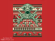 A Contra Family Christmas T-Shirt - http://teecraze.com/a-contra-family-christmas-t-shirt/ - Designed by Busted Tees #tshirt #tee #art #fashion #clothing #apparel #UglyChristmasSweater
