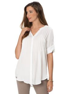Convertible Sleeve Button Front Maternity Blouse Love this in any colour other than white