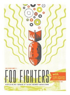 Foo Fighters, Supergrass by Iron Canvas Studios