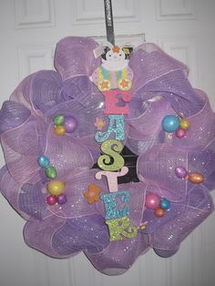 Just A Primary Girl: Easter Mesh Wreath -