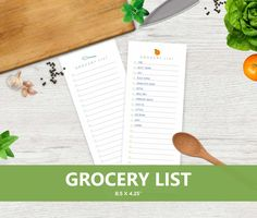 Printable Grocery List, Shopping List Printable Market Supermarket Printable List by cardsbybubi on Etsy