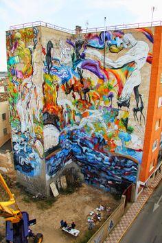 Street Art News: Laguna New Mural - Quintanar de la Orden, Spain