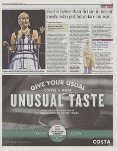 Madalena Alberto as Eva Peron on The Times. 19 September 2014 http://www.madalenaalberto.com