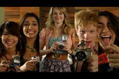 Hayley Kiyoko, Naomi Scott, Bridgit Mendler, Adam Hicks, and Blake Michael in the music video for Somebody