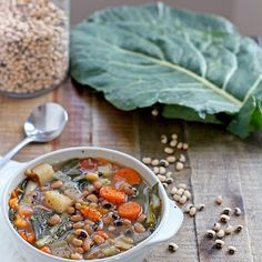 Black-Eyed Pea and Collard Greens Soup - Weight Loss Recipes: Weight Loss Soup - Shape Magazine