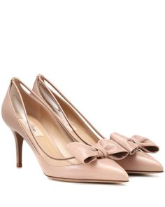 156a469021f0 Valentino - Pink Dollybow Leather Pumps - Lyst Leather Court Shoes