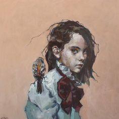 """Songbird"" by Ingebjørg Frøydis Støyva Artsy, Artwork, Prints, Instagram, Oil Paintings, Portraits, Illustrations, Pintura, Kids"
