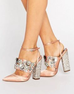 Buy ASOS PAPAYA Bridal Embellished Heels at ASOS. Get the latest trends with ASOS now. High Heel Pumps, Stilettos, Stiletto Heels, Shoes High Heels, Black Flats, Cute Shoes, Women's Shoes, Me Too Shoes, Shoe Boots