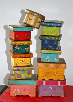 1000 Ideas About Painted Boxes On Pinterest Tins
