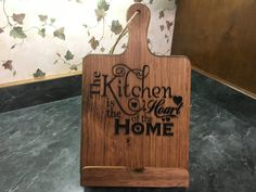 Personalized Wood iPad / Cookbook Stand Provincial by KohnensNook Woodworking Projects Plans, Teds Woodworking, Ipad Kitchen Stand, Wooden Ipad Stand, Book Holder Stand, Diy Crafts For Boyfriend, Cookbook Holder, Cook Book Stand, Diy Cutting Board