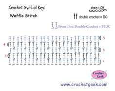 Crochet Waffle Stitch Free Crochet Pattern How to make