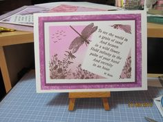 Clarity stamps - done following Barbara Gray demo on TV
