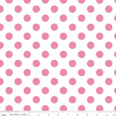 Riley Blake Designs - Dots - Medium Dots in Hot Pink on White