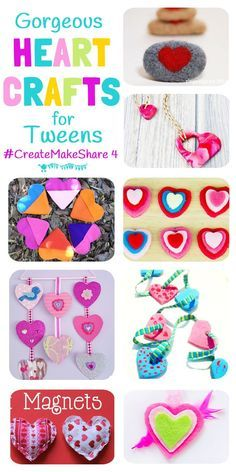 8 FANTASTIC HEART CRAFTS FOR TWEENS & TEENS - There's tasty sweets, pretty jewellery and decorations to make a bedroom super cute! Enjoy them on your own or with your BFF...you're going to LOVE them! (#CreateMakeShare 4)