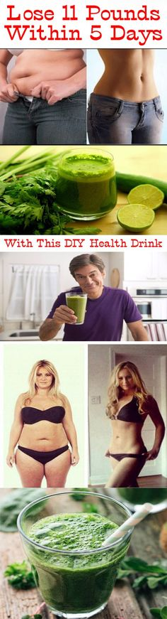THIS DIY HEALTH DRINK HELPS TO LOSE 11 POUNDS WITHIN 5 DAYS Overweight people can easily become the victim of diabetes, hypertension or heart attack. Most of us feel that hitting the gym or followi…