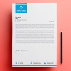 Letterhead Template Free Download #letterhead #design #business #template #illustration #corporateidentity #free #freepik