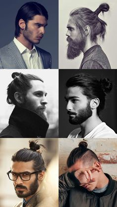 Men's Contemporary/Modern Long Hairstyles - The Topknot, Man Bun, Disconnected Styles, Slick Finishes